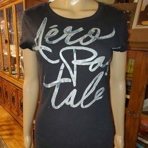 Aeropostale, size Large, black & gray t-shirt.